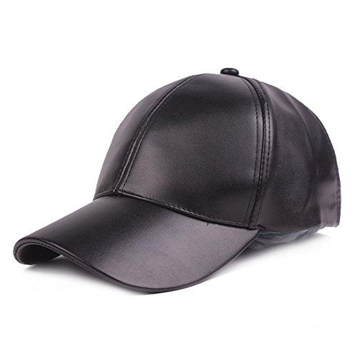 Markcur Leder Baseball Cap Basecap Herren Baseballmütze Verstellbar Kappe Hut