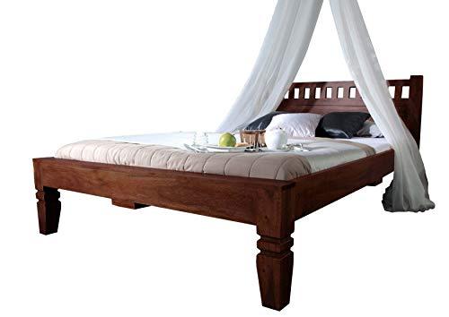MASSIVMOEBEL24.DE Koloniales Bett 160x200 Akazie Möbel massiv Oxford #229