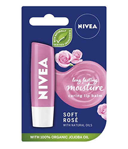 3 bálsamo labial Nivea Soft Rose, 4,8 g