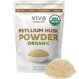 Psyllium Husk Powder Organic (1.5 lbs) - Easy Mixing Fiber Powder, Finely Ground & Non-GMO Fiber Supplements to Promote Regularity, Perfect for Gluten-Free Baking, 24 oz