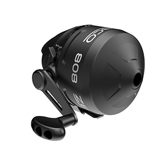 Zebco 808 Spincast Fishing Reel, Powerful All Metal Gears, Quickset Anti-Reverse and Bite Alert, Pre-spooled with 20-Pound Cajun Fishing Line, Black