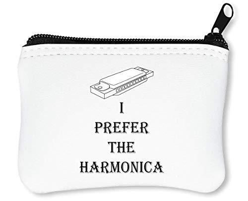 I Prefer The Harmonica Graphic rits portemonnee portemonnee portemonnee