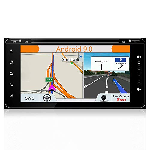 BWHTY ¡con cámara de Respaldo + Antena GPS! Modelo WiFi 6.95'Android 8.1 Quad Core Car DVD Navegación GPS Estéreo para Toyota Car Support 3G WiFi Hotspots/Bluetooth/Subwoofer/Mirror Link/Tarjeta S