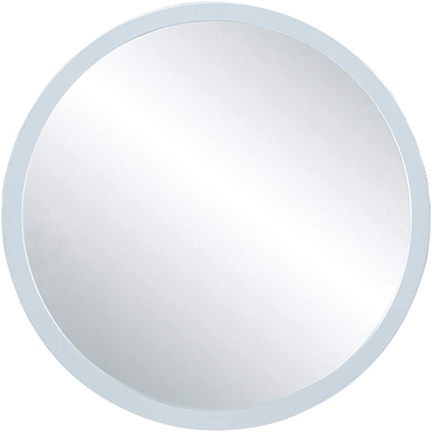 Bathroom Makeup Mirror for Wall White Metal Frame 30CM(12Inch) Round Vanity Mirror Shave Shower Decorative Mirror for Entry Dining Room Bedroom