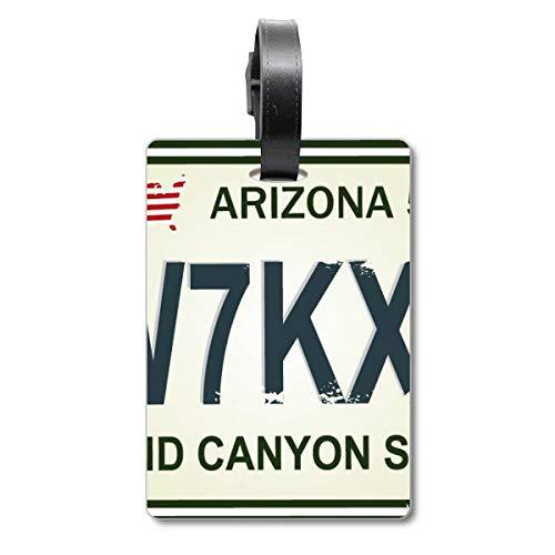 Etiqueta para identificación de vehículo americano, con número de matrícula, para maleta de crucero