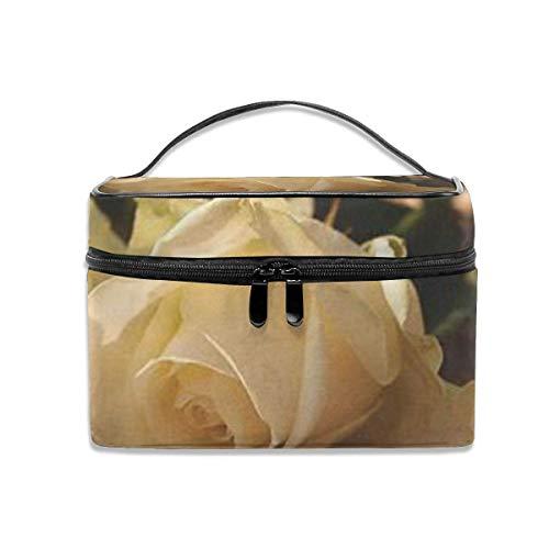 Romantique Roses Voyage Maquillage Train Case Maquillage Cosmétique Cas Organisateur Portable Artiste Sac De Rangement