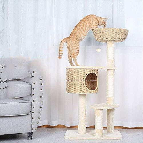 Torre de Juego para Gatos Poste de Agarre de Gato Multifuncional Marco de Escalada de Gato Tejido Árbol de Gato Nido de Gato Árbol de Gato Integrado