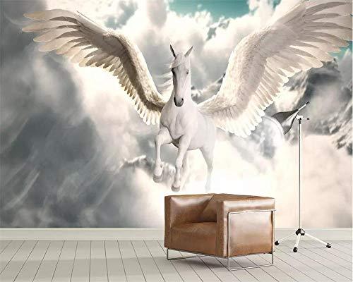 Cyalla Benutzerdefinierte Tapete Foto Nordischen Mythologie Pegasus Tv Hintergrund Tapeten Einfachen Himmel Wohnzimmer Schlafzimmer 3D...