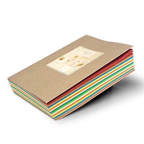 ALFABET Agenda Giornaliera Annuale in Carta Paglia Rigenerata Multi Colore, Diario Ecologico A5 Riciclato da Scarti Industriali, Pagine Numerate Non Datate, Segnalibri con Calendario Inclusi