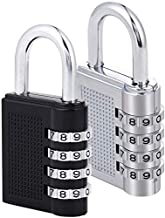 4-Digit Combination Lock for School Gym Locker, Sports Locker, Fence, Toolbox, Case, Outdoor, Fence, Hasp and Storage