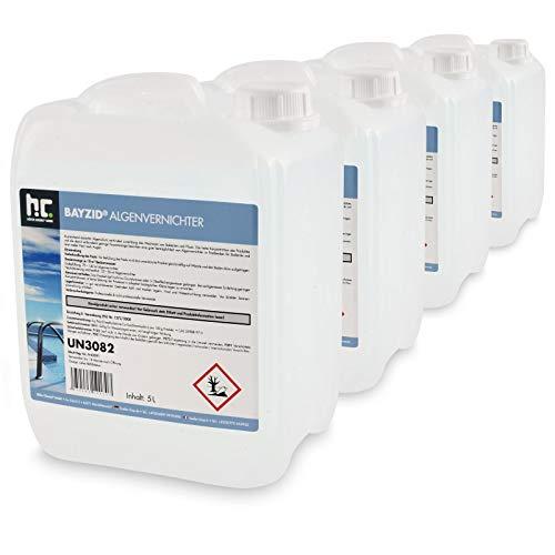 4 x 5 L traitement anti algues non moussant choc - en bidons de 5 L