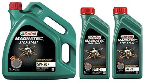 Castrol Magnatec Start-Stop 5W-20 E Synthetische Motorolie, 6 liter