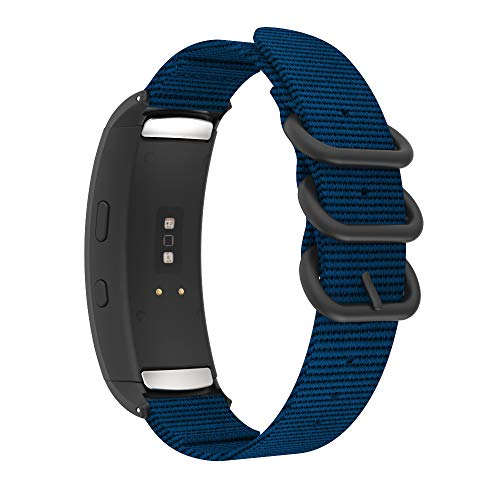 MoKo Watch Band Compatible with Samsung Gear Fit 2/Gear Fit 2 Pro, Fine Woven Nylon Adjustable Replacement Strap Fit Samsung Gear Fit 2 SM-R360/Gear Fit 2 Pro SM-R365 Smart Watch - Royal Blue