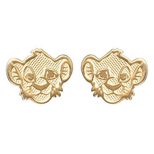 Disney Lion King 14K Gold Simba Stud Earrings, Official License