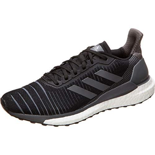 adidas Womens Solarglide 19 Road Running Shoe, Core Schwarz/Grey/Cloud White, 38 2/3 EU