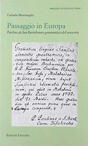 Passaggio in Europa. Paolino da San Bartolomeo grammatico del sanscrito
