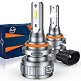 DR.CAR 9005/HB3 LED Headlight Bulb, 300% Bright High Beam Headlight Bulb Wireless All-in-One Conversion Kit, 6000k Cool White, Pack of 2