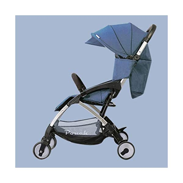 JXCC Baby Stroller Can Sit Reclining Simple Mini Aluminum alloy Stroller Folding Four Seasons Portable Shock absorber from 0-36 months,6.8kg,Multi-color optional -Safe And Stylish Blue JXCC 1. {Multi-angle adjustable}: You can sit down and adjust the angle from 0 to 180 degrees, suitable for all occasions. 2. {Easy to clean}: Remove the button for easy cleaning and detachable seat cushion 3. {Vibration}: two-wheel parallel connection, stable shock absorption, double front wheel suspension, two-wheel brake 1