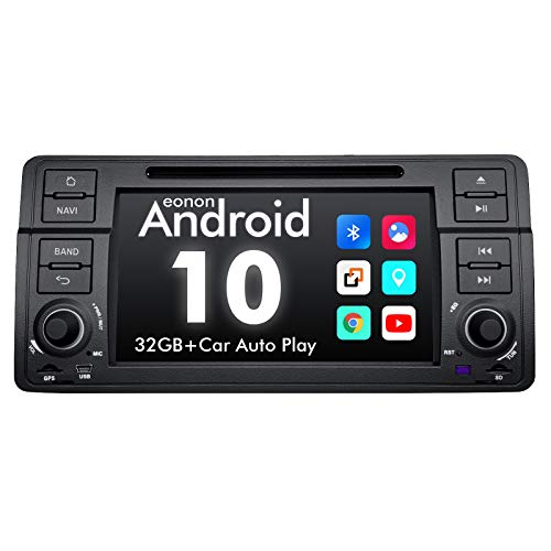 2021 Newest-Android Car Stereo Android 10 Car Stereo, Eonon Car Radio Applicable to BMW 3 Series Android Head Unit Support Carplay/Android Auto/WiFi/Fast Boot/Backup Camera-7 Inch-GA9450
