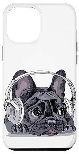iPhone 12 Pro Max Cute French Bulldog Headphones Dog Bull Dog Lover Gift Case