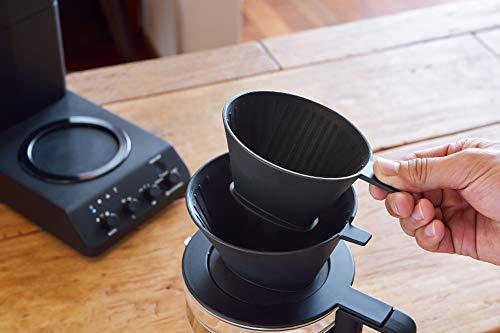 ツインバード全自動コーヒーメーカーミル付きコーン式6杯用蒸らし湯温調節ブラックCM-D465B