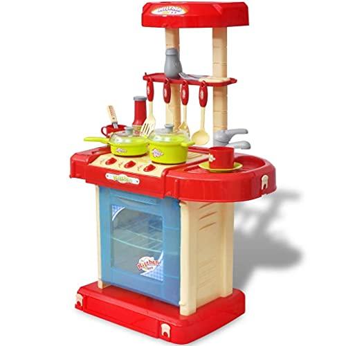 LINWXONGQP Dimensiones: 46 x 28,5 x 65,5 cm (Largo x Ancho x Alto) Cocinita de Juguete para niños con Efectos de luz y Sonido