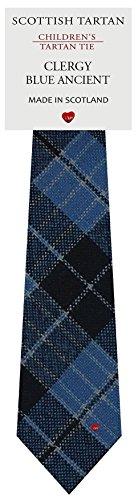 I Luv Ltd Garçon Tout Cravate en Laine Tissé et Fabriqué en Ecosse à Clergy Blue Ancient Tartan