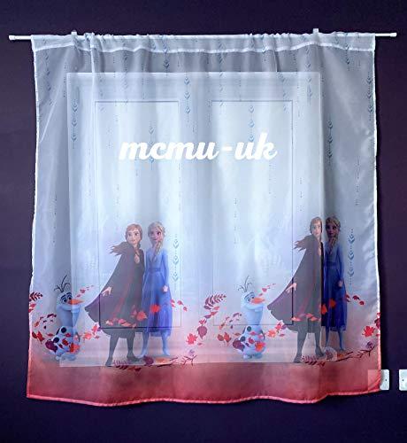 Polontex Disney Gardinen Die Eiskönigin Frozen 2-150 cm Breite x 150 cm Lange Kinderzimmer Vorhang