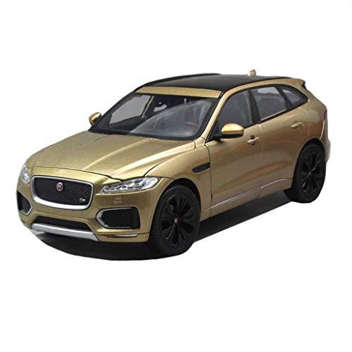 Modelo de coche Jaguar-o-terreno 1,24 Simulación regalos de aleación de juguete de los niños del coche modelo de fundición a presión (color, Champagne), Rojas ( Color : Champagne , Size : One size )