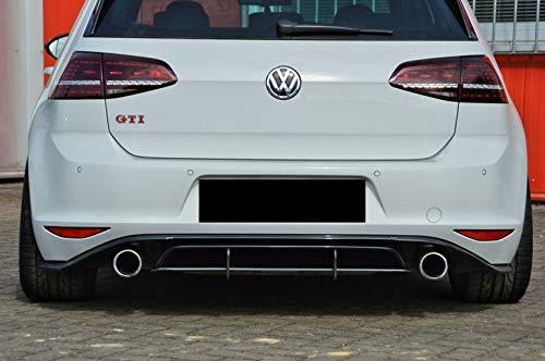 Cup Diffusor Ansatz für Golf 7 VII GTI Clubsport AB Bj. 16 Heck Ansatz Race INE