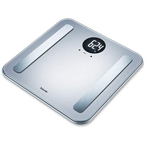Beurer BF 198 silver Diagnose-/Personenwaage IFA 2019, mit Körperfettmessung, zehn Benutzerspeichern und 5 Aktivitätsgrade, Tragkraft 180 kg