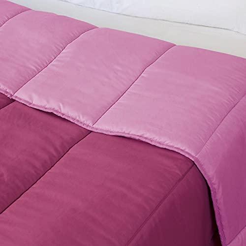 Purpura Home Relleno Nórdico, Edredón hipoalergénico de Fibra, Tacto Pluma, Otoño-Invierno, 300 gr/m², Varias Medidas (Cama 135 (235X270), Lila/Fucsia)