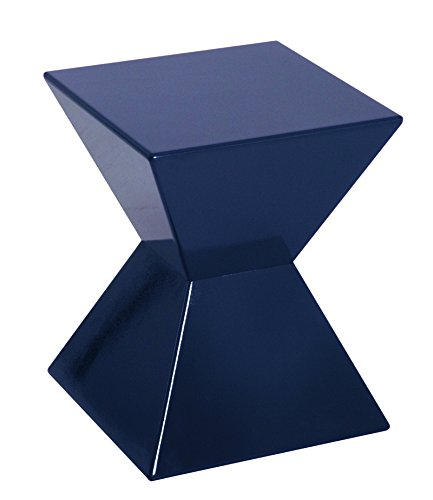 PEGANE Table d'appoint en Moulage matière Plastique Mûre/Pearl, Dim : L35 x P35 x H43 cm
