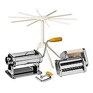 Premier Housewares 2560008 From Scratch Multi Pasta Maker Set - Silver, Set of 4 20 x 21 x 15 cm