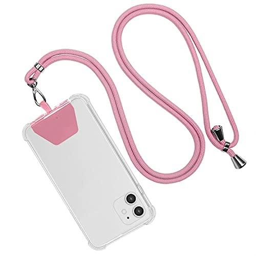 ZITENG CGBH Telefono Cordino Regolabile Girevole con Scollo a Collo Cordino Cinturino Telefono Telefono for Tutti i telefoni e Accessori combinati (Colore : Rosa)
