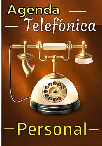 Agenda telefonica personal: Un gran y hermoso cuaderno para guardar los datos de todos tus contactos. Índice alfabético