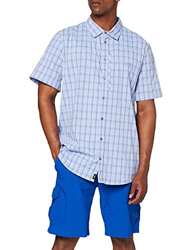 Jack Wolfskin Herren Rays Stretch Vent Men Hemd, Shirt Blue Checks, XL