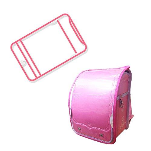 透明 ランドセルカバー 防水 傷 汚れ防止 ブラック zak-sbcover-l (ピンク)