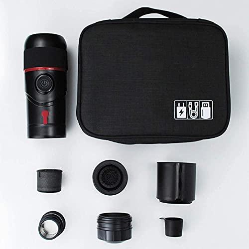 Living Equipment 80Ml Portable Espresso Coffee Hine, 75X216Mm, con Adaptador para el Hogar (Emparejado con Estándar Americano, Estándar Europeo, Estándar Británico y Enchufe Estándar Australiano) +