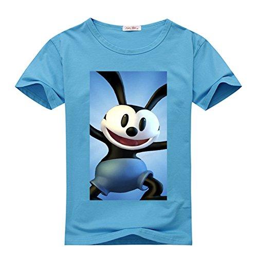 kiler alier Mens T-Shirt Oswald the Lucky Rabbit -cute XX-Large Blue