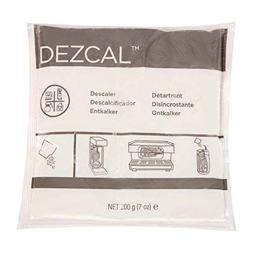 Urnex Dezcal Activated Descaler - 100 Pack (1 Ounce Packets) - For Use on Commercial Boilers and Heating Elements of Coffee and Espresso Equipment