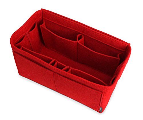 Pelikus Felt Purse & Tote Organizer Insert/Multi-Pocket Handbag Shaper (Large, Red)
