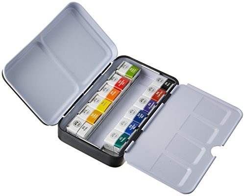 Sargent Art 32-6012 Artist Quality 12ct Professional Watercolor Set, Tin Case