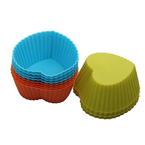 MNBV Hartvorm Siliconen Bakbekers Cupcake Liner Mould Cake Muffins Cupcakes en snoepjes