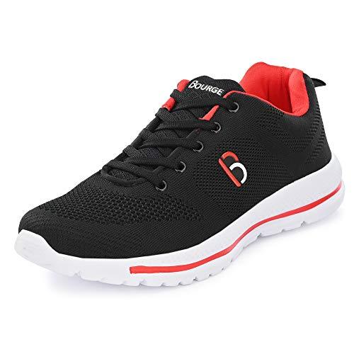 Bourge Men's Loire-9 Black Running Shoes-8 UK/India (42 EU) (Loire-9-Black-08)