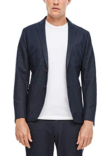 s.Oliver BLACK LABEL Herren: Jogg Suit-Sakko Loose Fit Suit-Sakko, Dark Blue Melange, 54