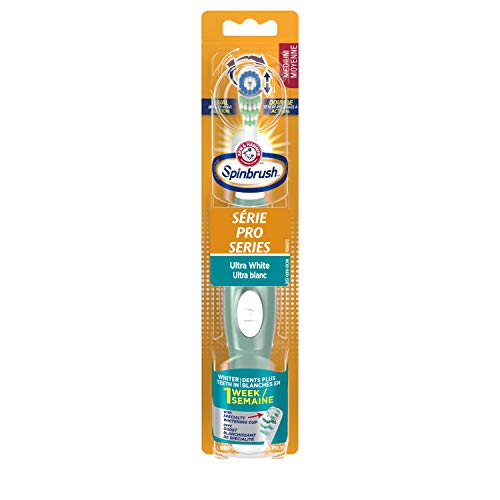 Arm & Hammer Spinbrush Pro Series White Battery Toothbrush