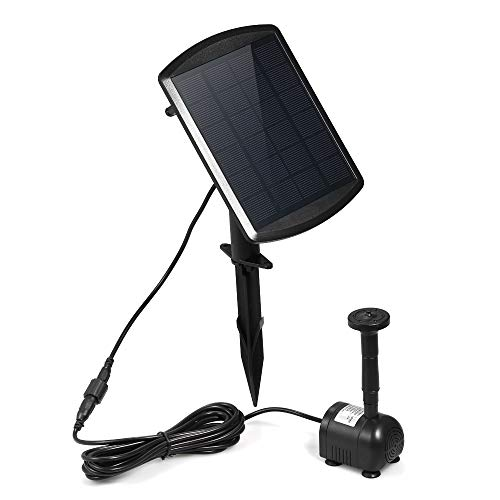 Decdeal 9V 1.8W Solar Powered Water Pump 200L/H