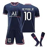 Maglia da Calcio per la casa della Coppa del Mondo di Parigi 10# Neymar 7# Mbappé Divise da Calcio per Adulti e Bambini