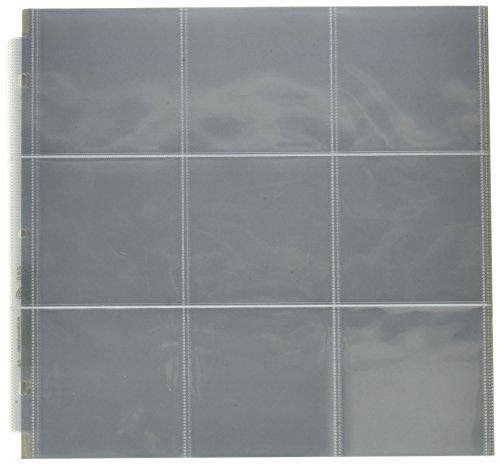 Protetores de memória WR 30,48 x 30,48 cm (bolsos de 22,86 x 10,16 cm) com 3 anéis, protetores de foto para álbuns, 10 unidades
